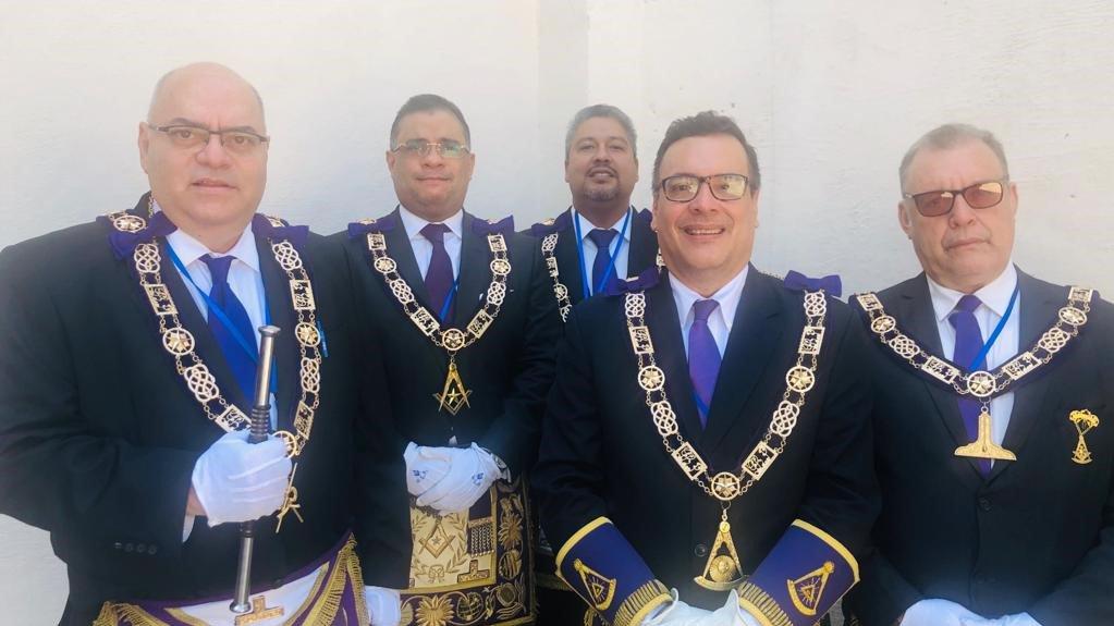 Gran Maestro de Panamá visita Nicaragua en el marco de la reunión anual de la Confederación Masónica Centroamericana .